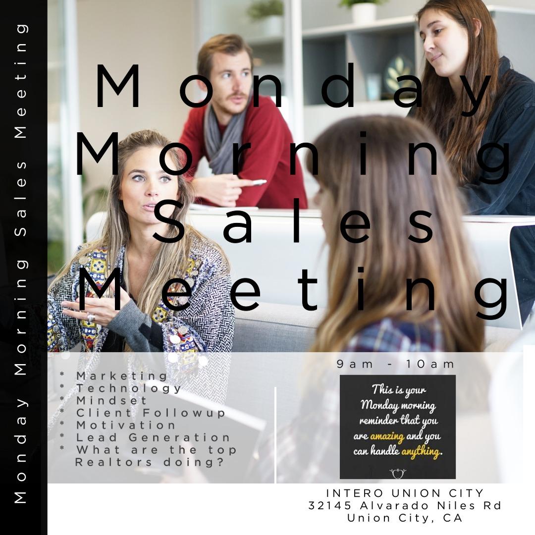 Monday Morning Sales Meeting Cara L Milgate
